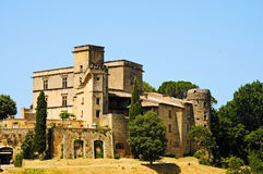 Chateau de Lourmarin Photo libre de droits