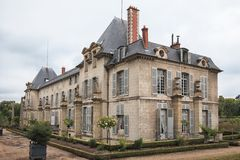 Chateau de Malmaison (not far from Paris), France. Chateau de Malmaison, formerly the residence of Emperess Josephine de Beauharnais, France Royalty Free Stock Image