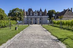 Chateau de Monbazillac - Bergerac - France stock photography