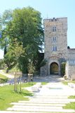 Chateau de Montendre ( France ) royalty free stock image