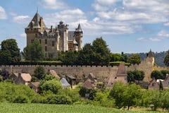 Chateau de Montfort - Dordogne region of France. Chateau de Montfort - a castle in the French commune of Vitrac in the Dordogne region of France royalty free stock images