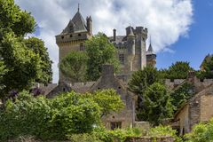 Chateau de Montfort - Dordogne - France. Chateau de Montfort - a castle in the French commune of Vitrac in the Dordogne region of France royalty free stock images