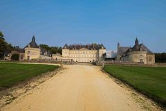 Chateau de Montgeoffroy, le Val de Loire, France Photos stock