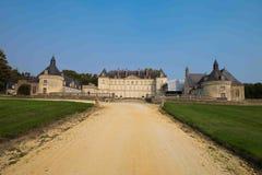 Chateau de Montgeoffroy, Loire Valley, Frankrike Arkivfoton