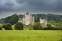 Chateau de Montpoupon, France Royalty Free Stock Image