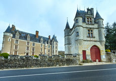 The Chateau de Montpoupon, France. The Chateau de Montpoupon spring view from road, France. Castle already existed in the 12th century, and probably earlier royalty free stock photography
