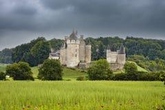 Chateau de Montpoupon, Francia immagine stock libera da diritti