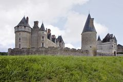 Chateau de Montpoupon, Francia fotografie stock
