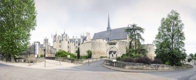 Chateau de Montreuil-Bellay,卢瓦尔河地区,法国 免版税库存照片
