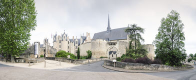 Chateau de Montreuil-Bellay, Pays-de-la-Loire, Francia Fotos de archivo libres de regalías