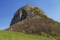 Chateau de Montsegur Royaltyfria Foton