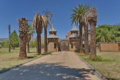 Chateau de Nates - beautiful place for repose. Chateau de Nates is located in Magalies region not far of Johannesburg, South Africa Royalty Free Stock Image