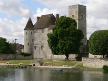 Chateau de Nemours, Seine et Marne ( France ) Stock Images