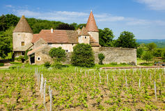 Chateau de Nobles. In Burgundy, France Royalty Free Stock Image