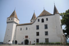 Chateau De Nyon. The beautiful chateau de Nyon is located at the lake of Geneva in Switzerland. Today it is a museum which is open to the public stock photography