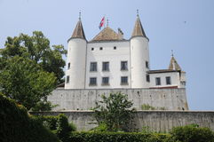 Chateau De Nyon. The beautiful chateau de Nyon is located at the lake of Geneva in Switzerland. Today it is a museum which is open to the public royalty free stock images