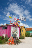 Chateau de Oleron in France. Cabins at island Chateau de Oleron in France royalty free stock photography