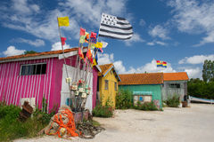 Chateau de Oleron in France. Artist cabins at island Chateau de Oleron in France Stock Photography