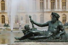 chateau de park staty versailles Royaltyfri Fotografi