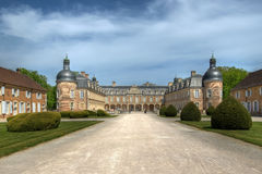 Chateau de Pierre-de-Bresse 02, France stock photography