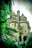 Chateau de pierrefonds Royaltyfria Foton