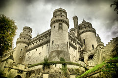 Chateau de pierrefonds Stock Photography