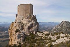 Chateau de Queribus fotografia stock libera da diritti