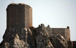 Chateau de Queribus Fotografie Stock