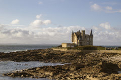 Chateau de quiberon a maree basse Royalty Free Stock Image