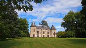 Chateau de Ribagnac, Λιμουζέν Στοκ Φωτογραφία