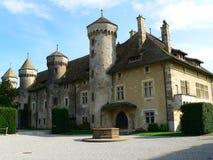 Chateau de Ripaille, Thonon-les-Bains (Frankrike) arkivfoto