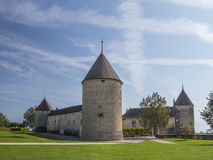 Chateau de Rolle at Rolle at Geneva Lake, Switzerland 1 Stock Images