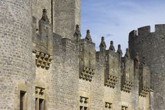 Chateau de Roquetaillade Royalty Free Stock Photos