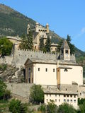 Chateau de Saint-Pierre, Aosta ( Italia ). Saint-Pierre church and castle, Aosta, Italy Royalty Free Stock Photo