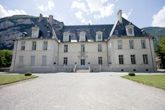 Chateau de Sassenage. In Grenoble, France royalty free stock image