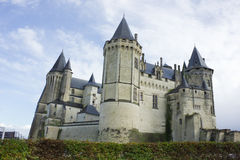 Chateau de Saumur, κοιλάδα της Loire, Γαλλία Στοκ εικόνες με δικαίωμα ελεύθερης χρήσης
