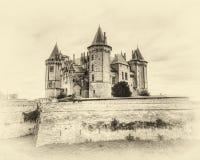 Chateau de Saumur Immagini Stock