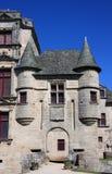 Chateau de Sedieres Entrance Lizenzfreie Stockfotografie