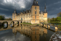 Chateau de Sully 01, Burgundy, France royalty free stock photos