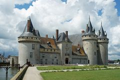 Chateau de Sully alongside the river Loire royalty free stock photography