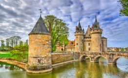 Chateau de Sully-sur-Loire, on of the Loire Valley castles in France. The Loiret department royalty free stock images