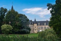 Chateau DE Théméricourt, huis van het Franse park van de vexinaard royalty-vrije stock fotografie