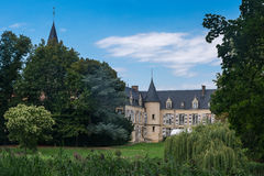 Chateau de Théméricourt, house of the french vexin nature park Royalty Free Stock Photography