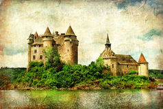 Chateau de Val - castle on lake Stock Photo
