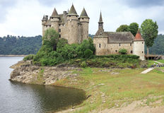 Chateau DE Val in Lanobre royalty-vrije stock fotografie