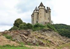 Chateau de Val in Lanobre, Frankreich Lizenzfreie Stockbilder
