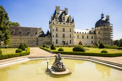 Chateau de Valencay, France. The Chateau de Valencay, a residence of the d`Estampes and Talleyrand-Perigord families in the commune of Valencay, Indre department royalty free stock images