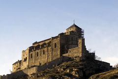 Chateau de Valere royalty free stock photos