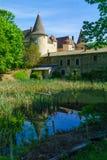 Chateau de Varennes, i Beaujolais arkivbild