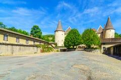 Chateau de Varennes, i Beaujolais arkivfoto